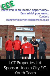 LCT Properties Support Lincoln City Youth Team
